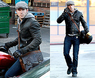 Photos of Ryan Reynolds On His Motorcycle in LA