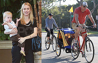 Photos of Naomi Watts, Liev Schreiber, Alexander Shreiber Riding Bikes in LA