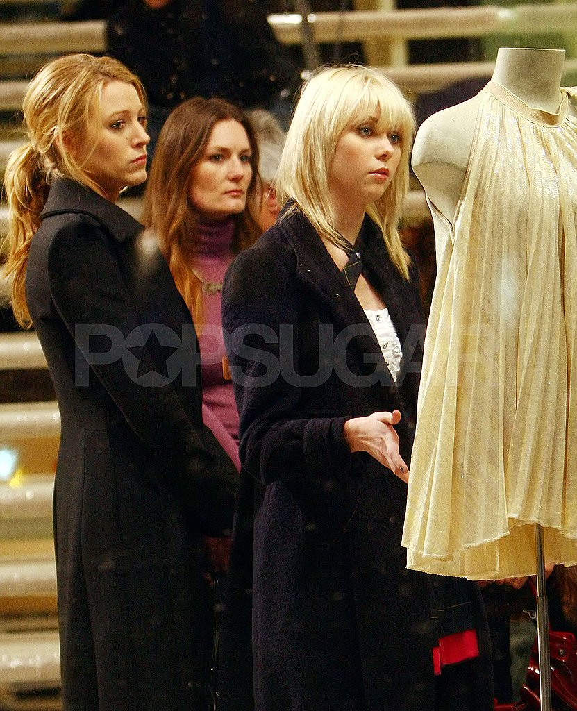 Girls of Gossip Girl Film A Shopping Scene