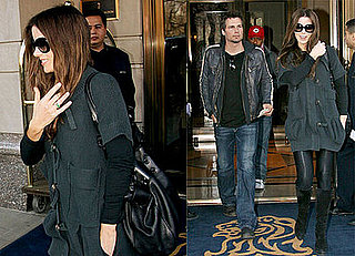 Kate Beckinsale and Len Wiseman leaving the Ritz Carlton
