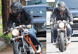 Brad Pitt Loves His Afternoon Bike Rides