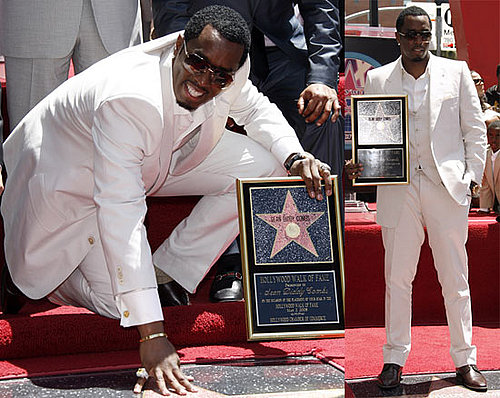 Diddy Gets a Star on the Hollywood Walk of Fame
