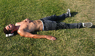 Shia Basking Shirtless in the Coachella Sun
