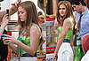 Images of Isla Fisher on the set of Confessions of a Shopoholic