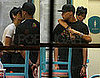Rihanna and Chris Brown Kissing in Miami KFC