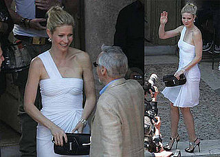 Gwyneth Paltrow Shoots A Commercial In Rome