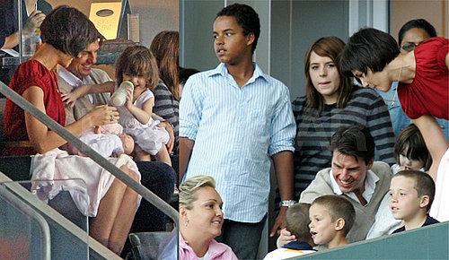 Suri Cruise, Tom Cruise, Katie Holmes, Beckhams Watch LA Galaxy Game May 10