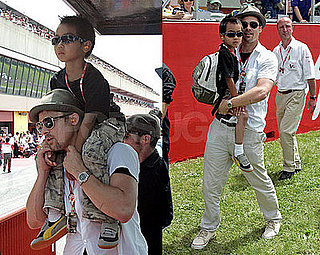Brad and Maddox's Day at the Races