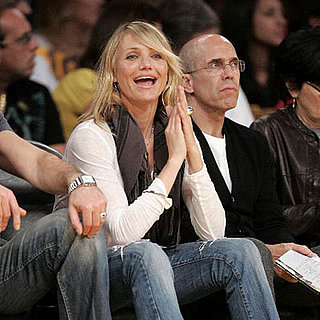 Cameron Diaz at Laker's Game