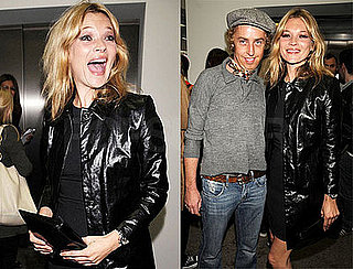 Kate Moss Flashes a Really Huge Grin at an Art Opening in London