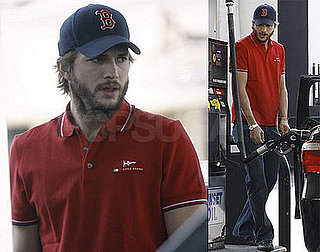Ashton Kutcher Fills Up His Tank