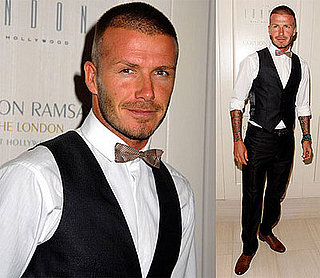 David Beckham Attends Opening of Gordon Ramsay's New Restaurant