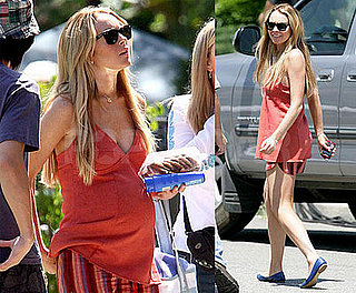 Lindsay Lohan Pregnant on Set of Labor Pains