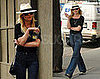 Photos of Kirsten Dunst Wearing a Fedora in NYC