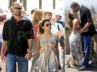 Photos of Eva Longoria and Tony Parker in Florence, Italy