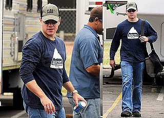 "Photos of Matt Damon Heading to Work on ""The Informant"""