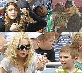 Photos of Madonna At A Yankees Game With Rocco, Lourdes, David Banda