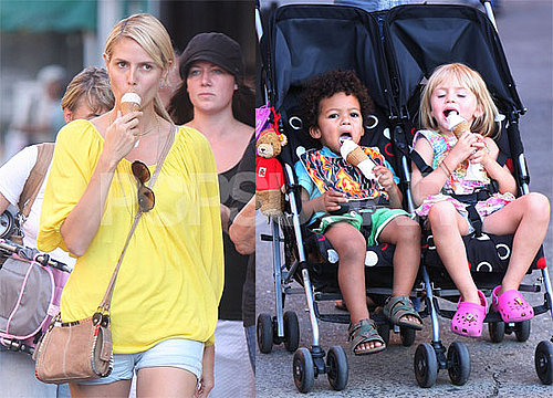 Photos of Heidi Klum in NYC With Her Celebrity Babies