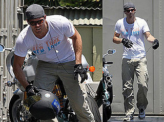 Photos of Ryan Reynolds and His Motorcycle
