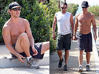 Photos of Matthew McConaughey and Lance Armstrong