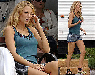 Photos of Blake Lively On the Set of Gossip Girl