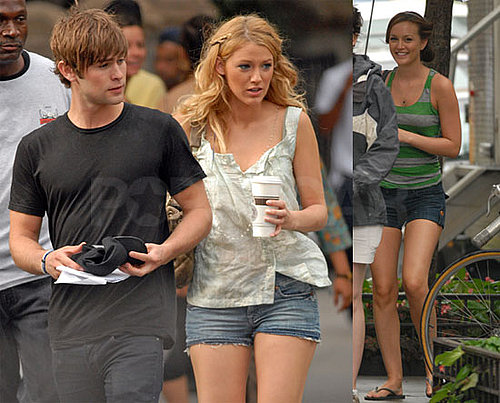 Photos of Chace Crawford, Blake Lively and Leighton Meester on Gossip Girl Set in New York