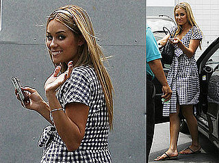 Photos of Lauren Conrad Wearing a Plaid Dress