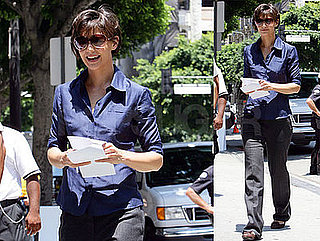 Photos of Katie Holmes on the Set of Eli Stone