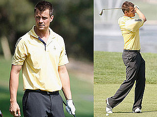 Photos of Josh Duhamel Participating in Celebrity Golf Tournament