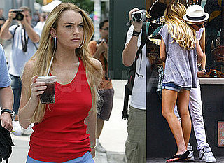 Photos of Lindsay Lohan and Samantha Ronson in NYC; Back on Set of Ugly Betty