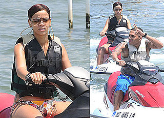 Photos of Rihanna and Chris Brown Jet Skiing, Chris Brown's Forever Really a Doublemint Ad