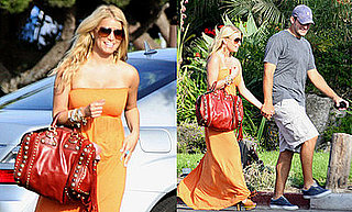 Photos of Jessica Simpson Visiting Tony Romo at Training Camp