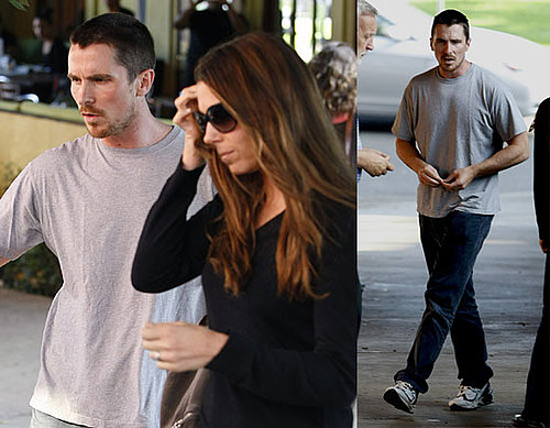 Photos of Christian Bale At Lunch With Wife Sibi in LA