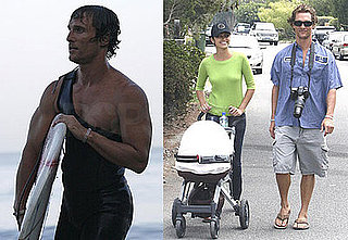 Photos of Camila Alves, Levi McConaughey, and Matthew McConaughey in Malibu