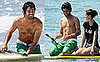 Photos of Adrian Grenier Paddle Surfing