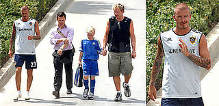 Photos of David Beckham and Gordon Ramsay at the David Beckham Soccer Academy