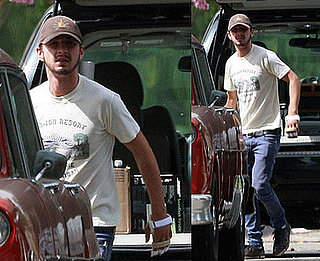 Photos of Shia LaBeouf Wearing Hand Split