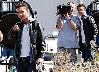 Photos of Shia LaBeouf On Set of Transformers 2 After Other Driver in Accident Cited