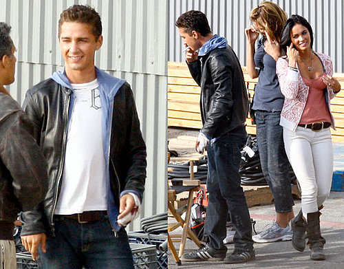 Photos of Shia LaBeouf and Megan Fox on the Set of Transformers 2