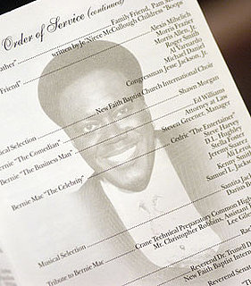 Photo of Bernie Mac's Memorial Service Program