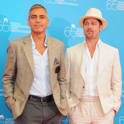 Condensed Sugar: Brad and George Light Up the Venice Film Festival