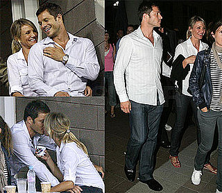 Photos of Cameron Diaz and Paul Sculfor Cuddling and Kissing at the US Open in NYC