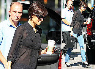 Photos of Katie Holmes on Her Way to Broadway Rehearsals in NYC