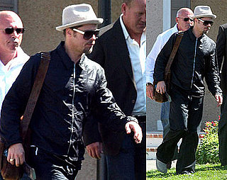 Brad Heads Home After No Jen Run In or Clooney Godfather
