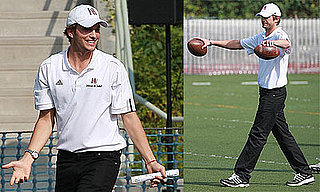 Photos of Ashton Kutcher as the New Assistant Coach of Harvard-Westlake High School Football