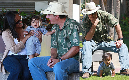 Photos of Chris Noth and Baby Orion in Maui