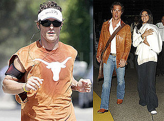 Photos of Matthew McConaughey Jogging and At the Airport