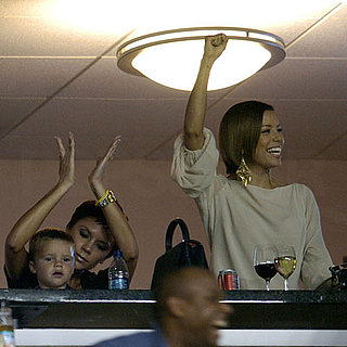 Victoria Beckham, Eva Longoria and Cruz Beckham Cheer On David Beckham