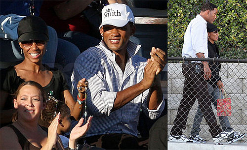 Photos of Will Smith and Jada Pinkett Smith At Football Game for Trey Smith