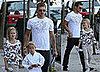 Photos of Ryan Phillippe, Deacon Phillippe, Ava Phillipppe, and Abbie Cornish in LA